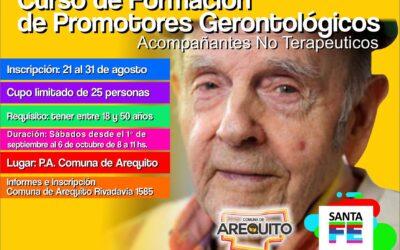 Curso de Formación de Promotores Gerontológicos.