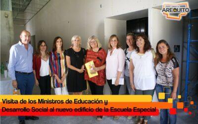 Visita de la Ministra de Educación junato al  Ministro de Desarrollo Social.