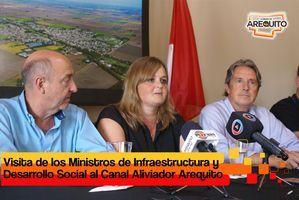 VISITA DEL MINISTRO DE INFRAESTRUCTURA DE LA  PROVINCIA