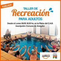TALLER DE RECREACIÓN PARA ADULTOS