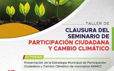 Se realizó en Arequito el Taller de clausura del seminario de Participación Ciudadana y Cambio Climático